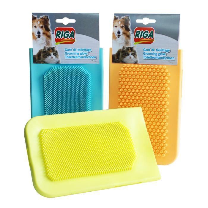 riga gant de toilettage pour chien et chat achat vente brosse carde gant de toilettage. Black Bedroom Furniture Sets. Home Design Ideas