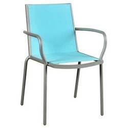 Lot de 2 fauteuils Panama toile bleue - Achat / Vente ...