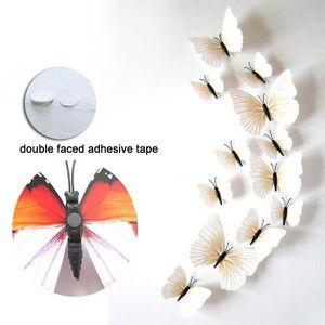 stickers muraux papillons 3d blancs achat vente