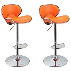 tabourets de bar par lot de 2 orange achat vente tabourets de bar par lot. Black Bedroom Furniture Sets. Home Design Ideas