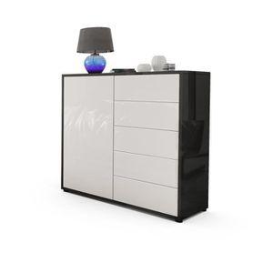 commode blanc et noir laque achat vente commode blanc. Black Bedroom Furniture Sets. Home Design Ideas
