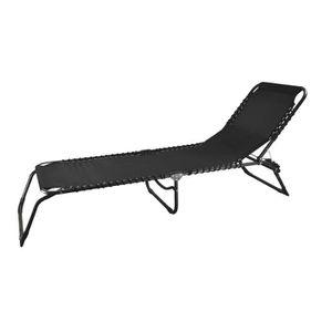 Chaise longue transat 3 position achat vente chaise for Chaise soleil et transat