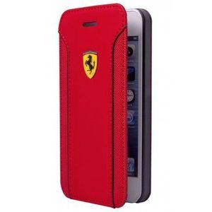 COQUE - BUMPER ETUI FOLIO FIORANO PU CUIR ROUGE APPLE IPHONE 6 bi