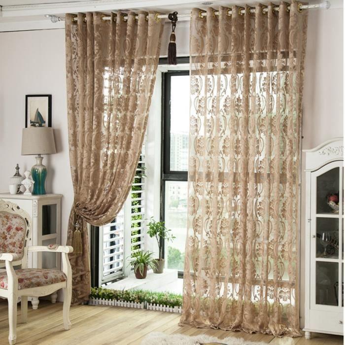 2pcs 150cmx270cm rideaux pour le salon rideau voilage cuisine curtains perle rideau gris for Rideaux voilage pour cuisine