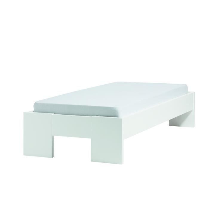 lit en ch ne frise 120 x 200 cm achat vente lit complet lit en ch ne frise 120 x. Black Bedroom Furniture Sets. Home Design Ideas