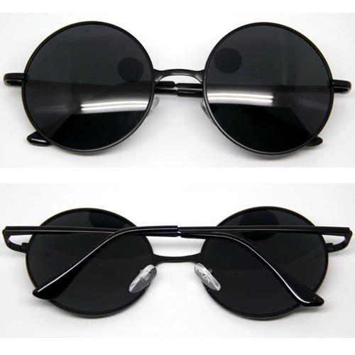 vintage cadre rond en m tal anti uv lunettes de soleil achat vente lunettes de soleil. Black Bedroom Furniture Sets. Home Design Ideas