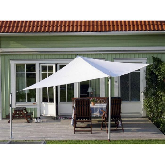 Voile d 39 ombrage blanche adoss e achat vente parasol ombrage voile d - Ikea voile d ombrage ...