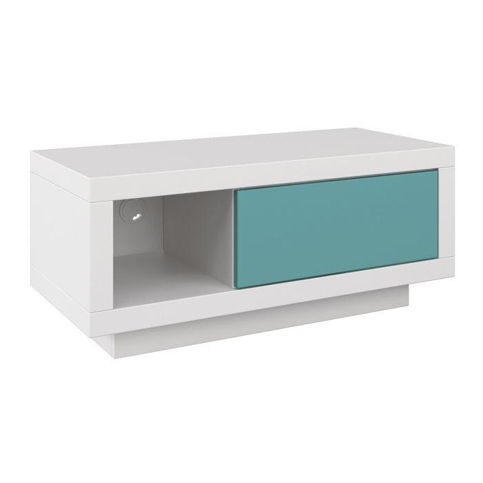 varic m blanc clapet petrol achat vente meuble tv hi fi varic m blanc clapet petrol. Black Bedroom Furniture Sets. Home Design Ideas