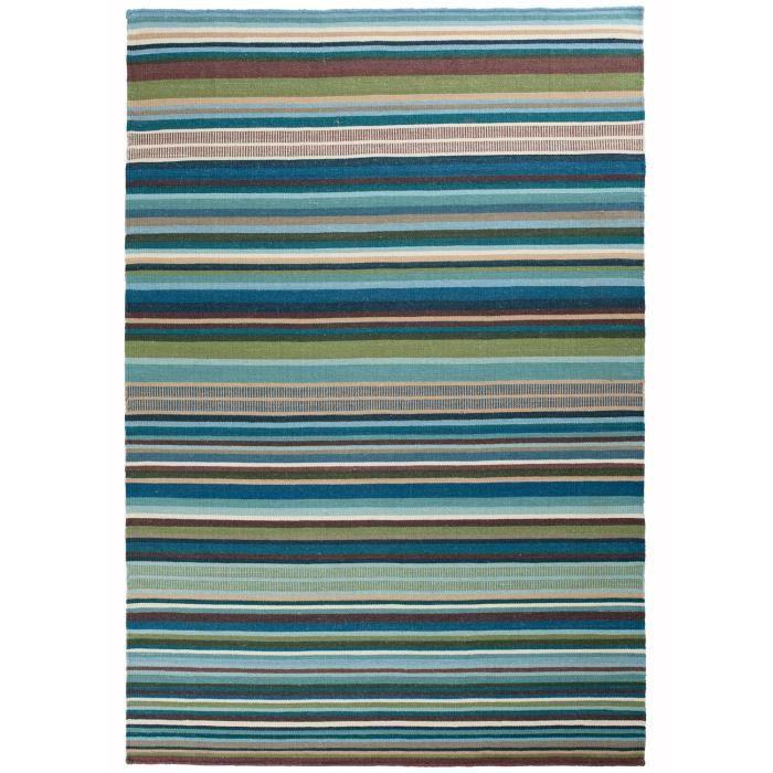 tapis couloir kilim feel design bleu 80x150 par unamourdetapis tapis moderne achat vente. Black Bedroom Furniture Sets. Home Design Ideas