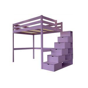 lit mezzanine 2 places achat vente lit mezzanine 2 places pas cher cdiscount. Black Bedroom Furniture Sets. Home Design Ideas