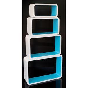 etagere murale cube bleu achat vente etagere murale cube bleu pas cher cdiscount. Black Bedroom Furniture Sets. Home Design Ideas