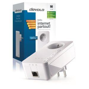 COURANT PORTEUR - CPL devolo 9217 dLAN 650+, Prise réseau CPL 600 Mbit/s