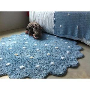 tapis rond bleu achat vente tapis rond bleu pas cher soldes cdiscount. Black Bedroom Furniture Sets. Home Design Ideas