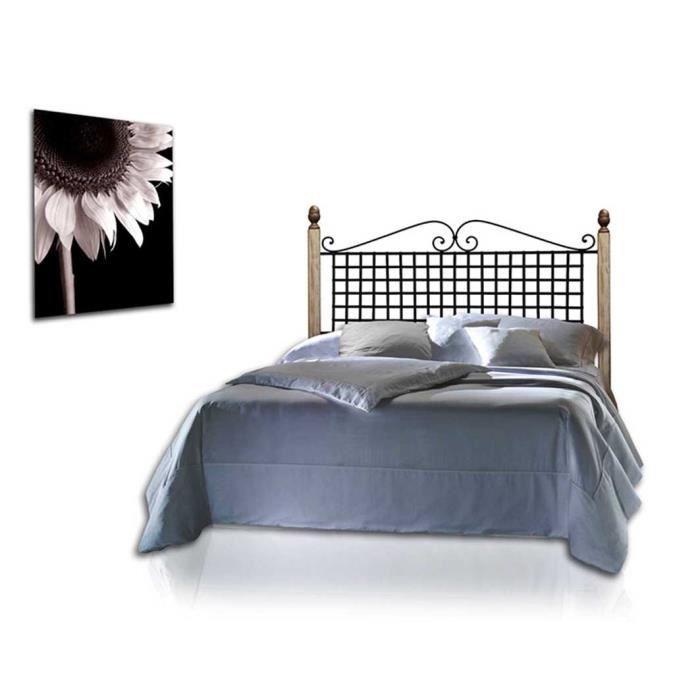 T tes de lit en fer forg et bois mod le ana t te de lit en fer forg et - Modele tete de lit en bois ...