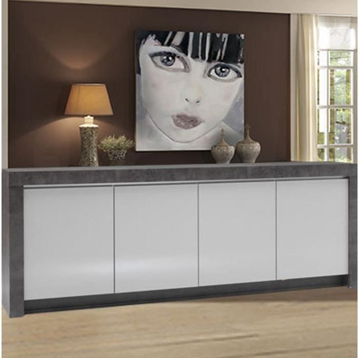 meuble contemporain b ton et laque gris clair 39 achat. Black Bedroom Furniture Sets. Home Design Ideas