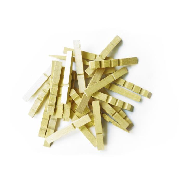 Demi pinces linge en bois 400 pi ces grai achat vente pince ling - Objet en pince a linge ...