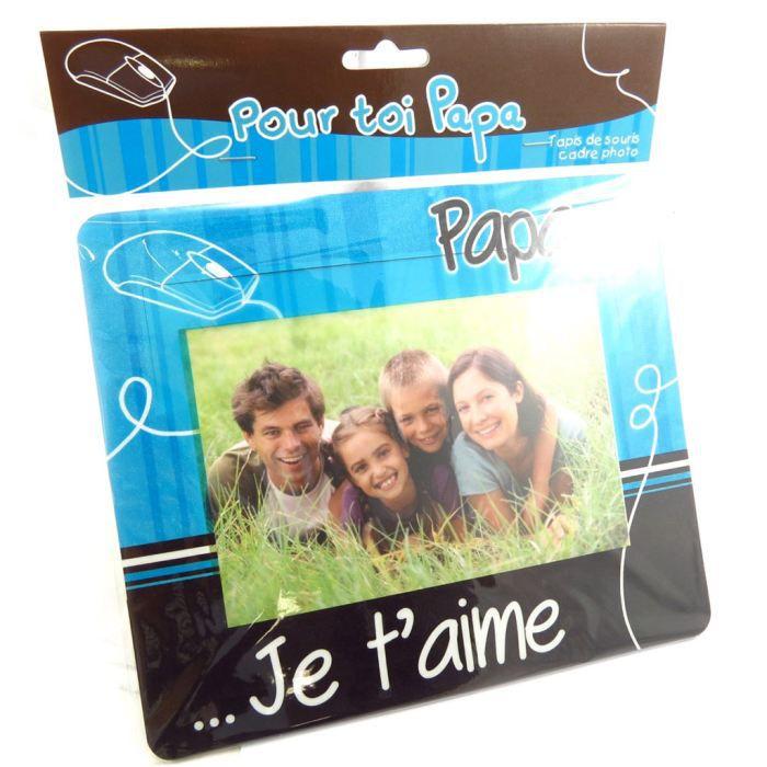 tapis de souris papa je t 39 aime bleu cadre ph achat vente tapis de souris tapis de souris. Black Bedroom Furniture Sets. Home Design Ideas