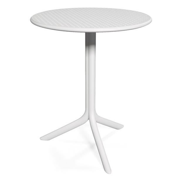 Table Ronde Nardi Step 60 Cm Blanc Achat Vente Table De Jardin Table Ronde Nardi Step 60 C