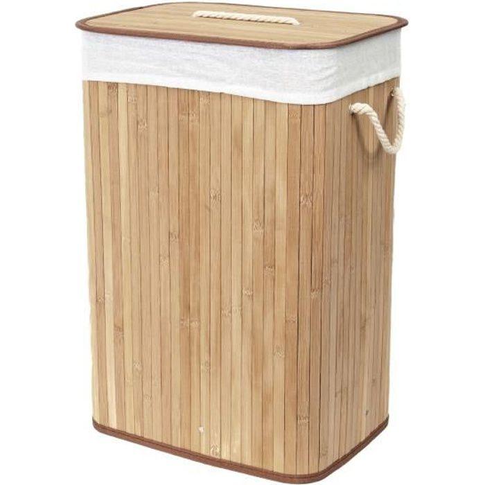 panier linge bambou naturel achat vente panier a linge cdiscount. Black Bedroom Furniture Sets. Home Design Ideas