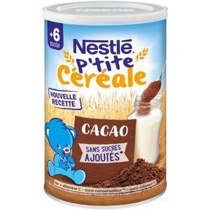 CÉRÉALES BÉBÉ NESTLE P'tite Céréale Cacao 400g -  6 Mois et +