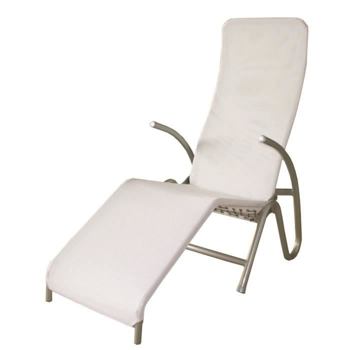 Chaise lounge blanc wellness achat vente chaise longue for Meilleure chaise longue