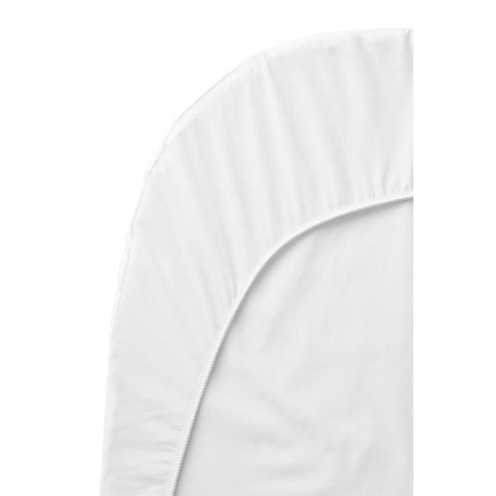 Babybjorn drap housse pour berceau blanc achat vente for Drap housse berceau