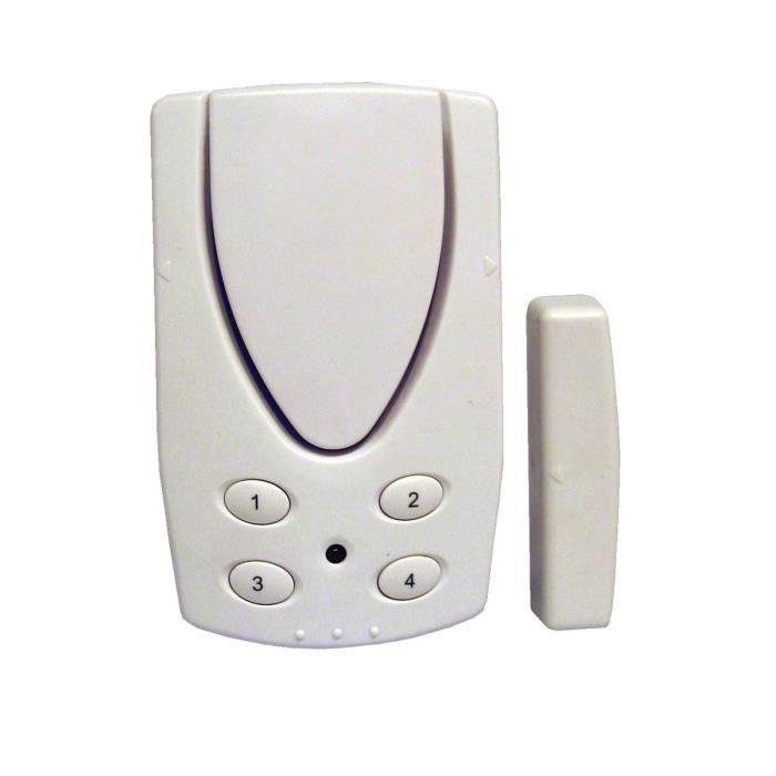 chacon alarme d tecteur d 39 ouverture porte fen tre avec code et contacteur magn tique achat. Black Bedroom Furniture Sets. Home Design Ideas