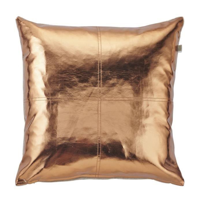 coussin lanaria 45x45 cm cuivre achat vente coussin cadeaux de no l cdiscount. Black Bedroom Furniture Sets. Home Design Ideas