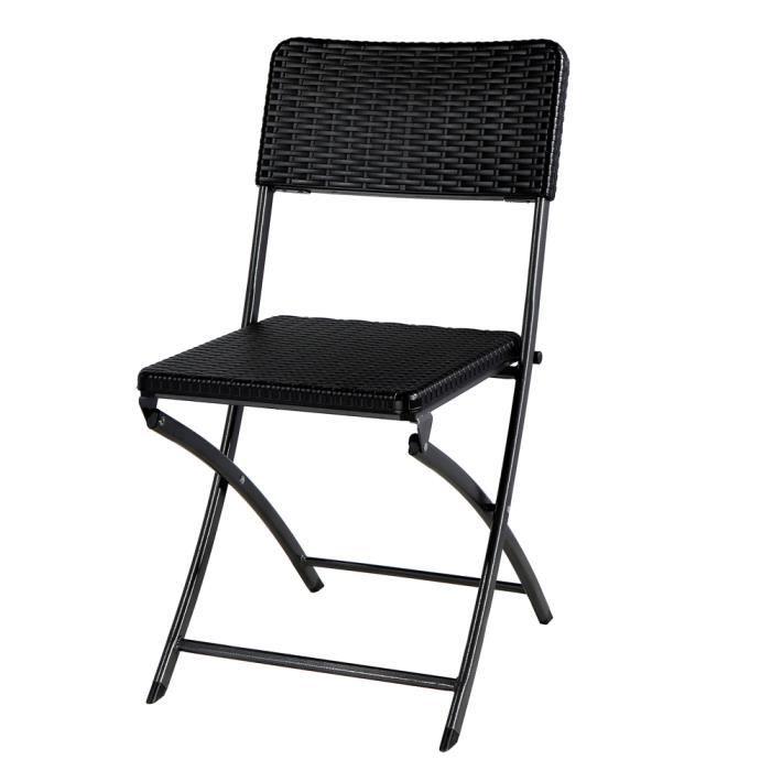 Lot de deux chaises pliantes en poly thyl ne haute densit for Lot de chaises pliantes