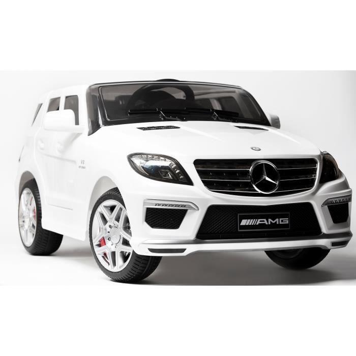 mercedes ml63 amg blanc voiture lectrique pour enfant 12volts 2 moteurs achat vente. Black Bedroom Furniture Sets. Home Design Ideas
