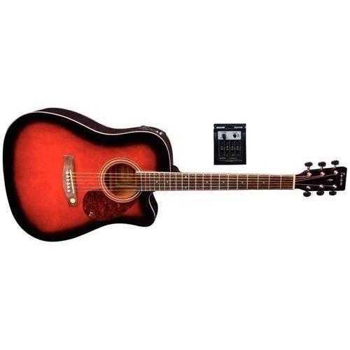 tenson f501322 guitare lectro acoustique d10 ce avec pan. Black Bedroom Furniture Sets. Home Design Ideas