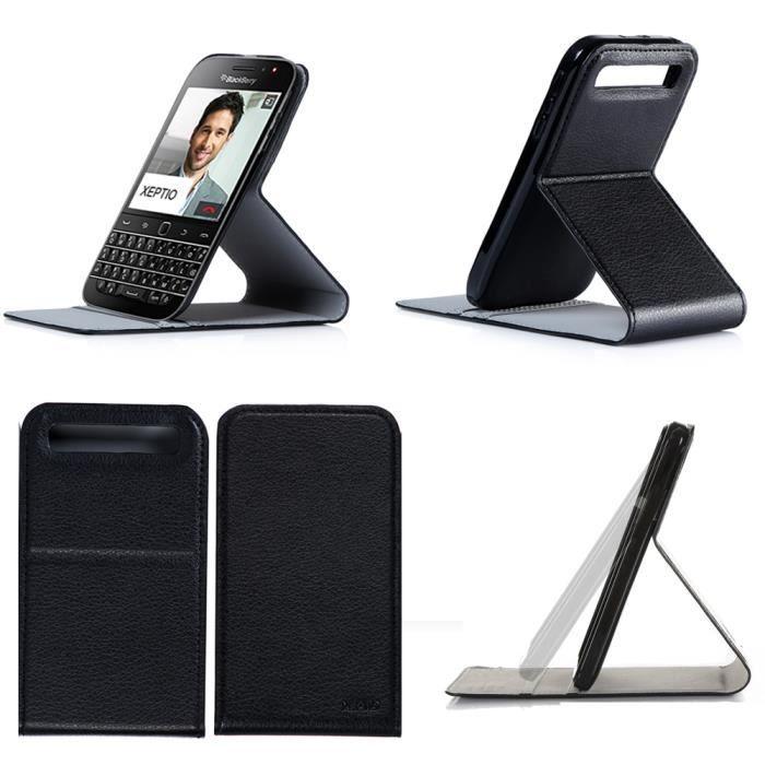 etui blackberry classic q20 noir housse coque achat. Black Bedroom Furniture Sets. Home Design Ideas