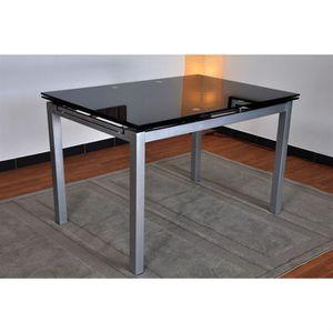 table sejour en verre avec pied noir laque achat vente table sejour en verre avec pied noir. Black Bedroom Furniture Sets. Home Design Ideas