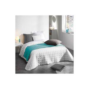 couvre lit blanc achat vente couvre lit blanc pas cher. Black Bedroom Furniture Sets. Home Design Ideas