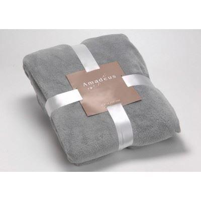 plaid doudou gris bleu amadeus achat vente couverture. Black Bedroom Furniture Sets. Home Design Ideas