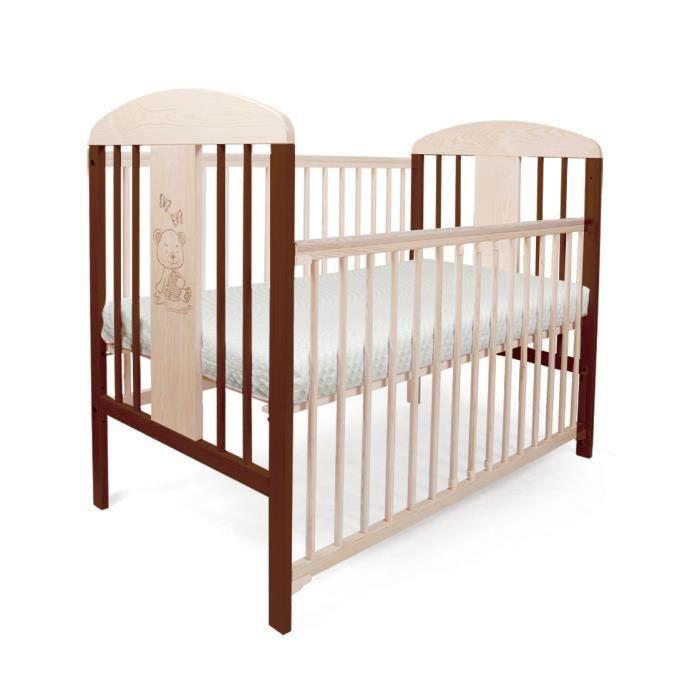 lit pour b b barreaux tomi 20 ourson barri re. Black Bedroom Furniture Sets. Home Design Ideas