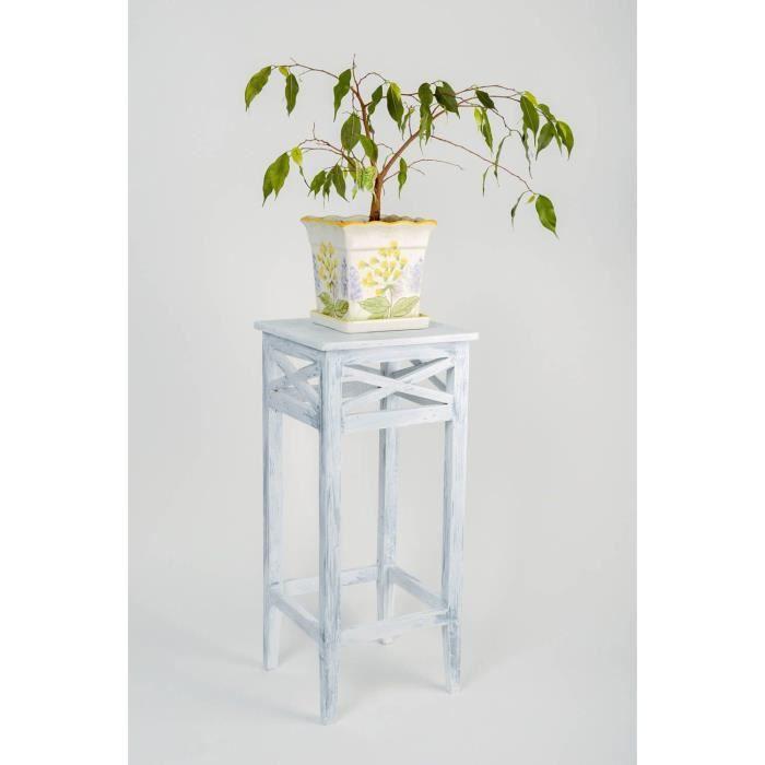 Support pour pot de fleurs en bois de pin fait achat vente objet d corati - Porte plantes d interieur ...