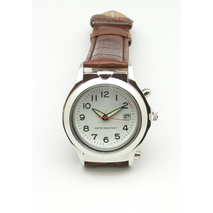 montre homme loupe led achat vente montre montre. Black Bedroom Furniture Sets. Home Design Ideas