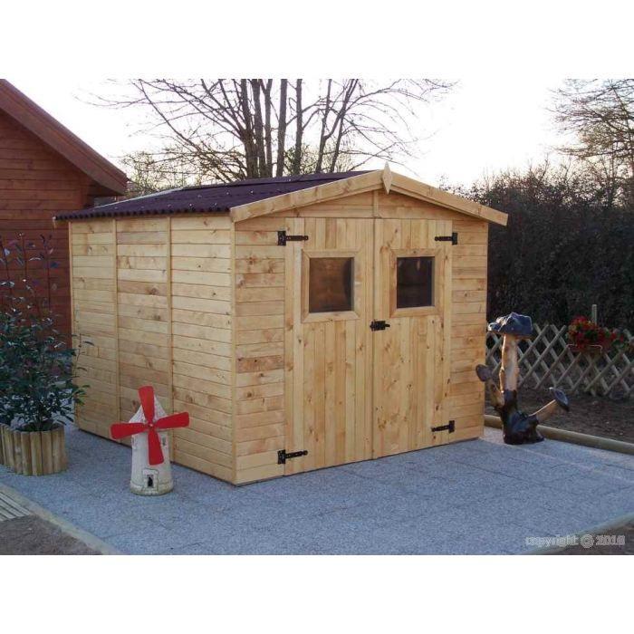 Abri de jardin eden 2 40 x 2 40 m sans plancher achat for Abri de jardin d occasion