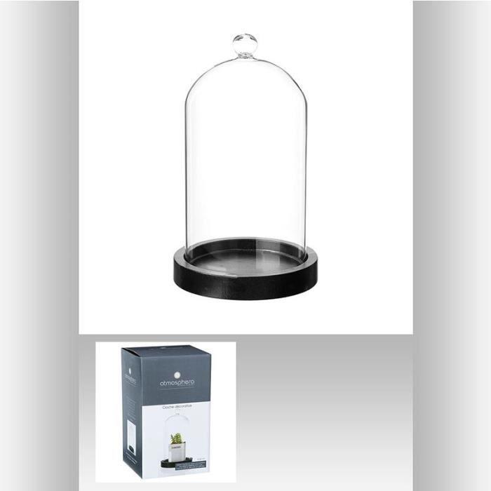 cloche en verre deco achat vente cloche en verre deco pas cher les soldes sur cdiscount. Black Bedroom Furniture Sets. Home Design Ideas