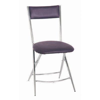 haku m bel chaise pliante tube d 39 acier pvc chrom m re achat vente chaise cdiscount. Black Bedroom Furniture Sets. Home Design Ideas