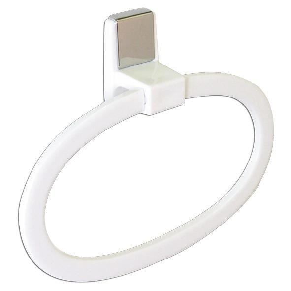 Porte serviette anneau plastique autocollant achat for Autocollant porte wc