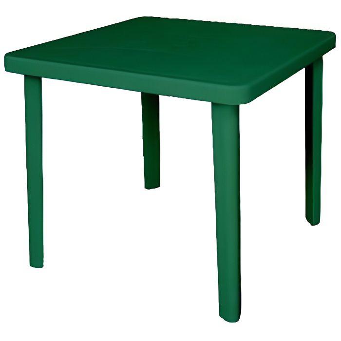 Table Carr E De Jardin Nettuno Vert 80 X 80 X 7 Achat Vente Table De Jardin Table Carr E De