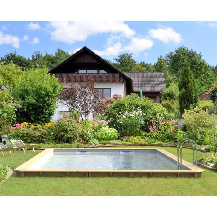 odyssea piscine bois 8x4 m h 1 46 m liner sable achat vente kit piscine piscine bois. Black Bedroom Furniture Sets. Home Design Ideas
