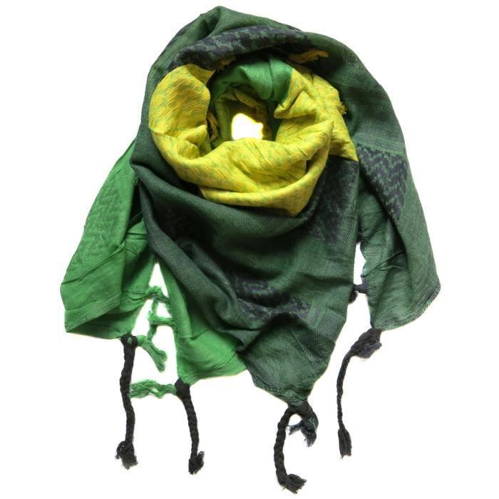 echarpe foulard palestinien keffieh ch che 110x90c vert achat vente echarpe foulard. Black Bedroom Furniture Sets. Home Design Ideas