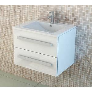 Jet line kit de meuble de salle de bain mod le arosa blanc for Kit meuble salle de bain