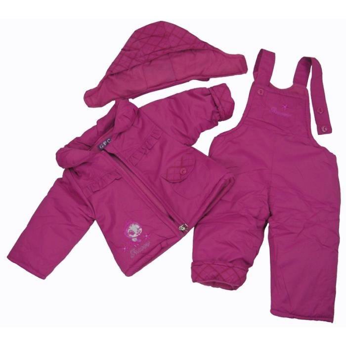 combinaison d 39 hiver b b fille violet achat vente combinaison combinaison d 39 hiver b b fi. Black Bedroom Furniture Sets. Home Design Ideas