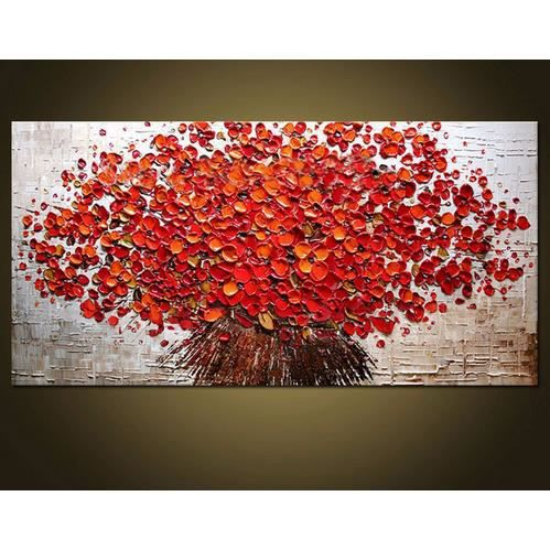 Pipihua main paitned grand r sum solide rouge couteau - Grand tableau pas cher ...