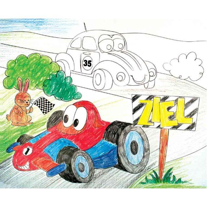 Set de table colorier voiture de course achat vente cahier set de table colorier voit - Voiture de course a colorier ...