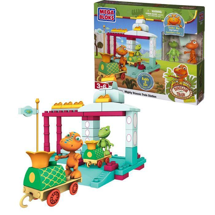 Dino train la gare du dino train achat vente assemblage construction cdiscount - Jeux lego dino ...